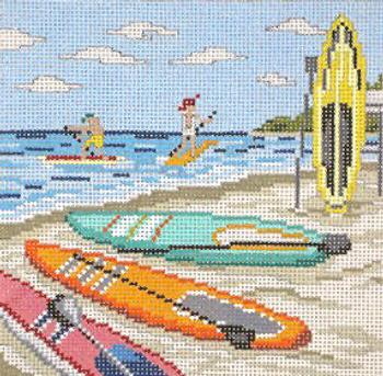 "#702-13 Paddleboarding Fun 13 Mesh - 7"" Square Needle Crossings$140.00"