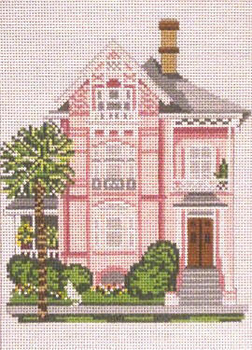 "#835 Atlantic House (Drayton House - Charleston, SC) 18 Mesh - 5"" x 7""   Needle Crossings"