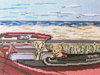 """#902-SP Beach Labs 18 Mesh - 8"""" x 6""""  Needle Crossings"""