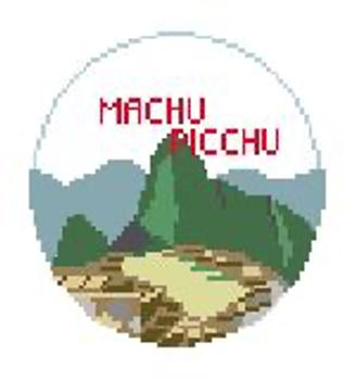 """BT886 Machu Picchu Kathy Schenkel Designs  4"""" Diameter"""