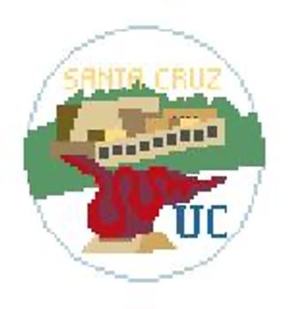 """BT884 UC Santa Cruz Kathy Schenkel Designs  4"""" Diameter"""