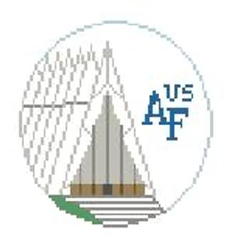 """BT885 US Air Force Academy Kathy Schenkel Designs  4"""" Diameter"""