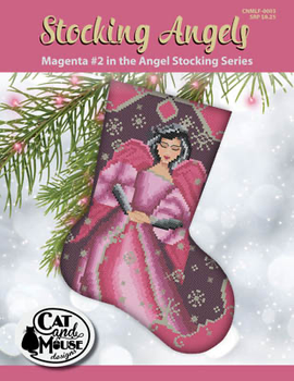 Stocking Angel 2 - Magenta InThe Angel  92w x 118h Cat And Mouse Designs 19-2383
