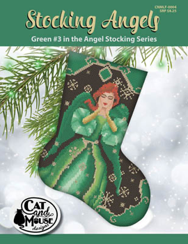 Stocking Angel 3 - Green In The Angel 92w x 118hCat And Mouse Designs 19-2384