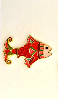 Sea & Summer Fish Red Magnet Accoutrement Designs