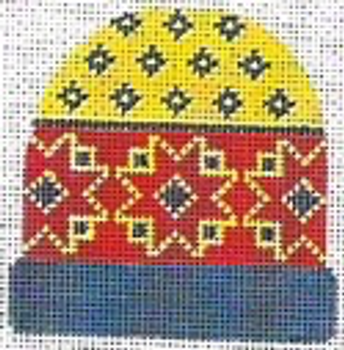 """85-3J Gold Hearts (Match with Sweater Number) 4"""" x 3 3⁄4"""" 13 mesh STITCH-ITs"""