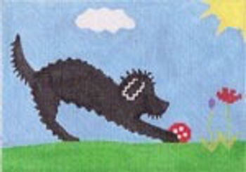 "RN8B Poodle Outside 5"" x 7"" 18 mesh STITCH-ITs R. Nichols"