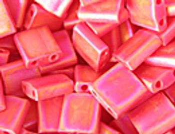 TL-408FR Matte Op Red AB Tila Miyuki Beads Embellishing Plus