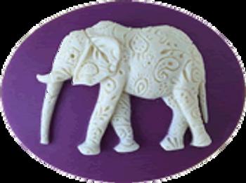 """Paisley Elephant needle minder Approx. 1.75"""" x 1.25""""  Kelmscott Designs"""