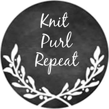 "Knit Purl Repeat 1"" round needle minder KelmScott Designs"