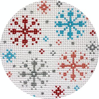 "APX412 Snowflakes 13 mesh 4"" ROUND Alice Peterson Designs"
