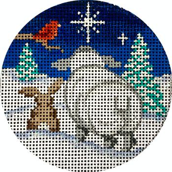 "APX424 North Star View 13 mesh 4"" ROUND Alice Peterson Designs"