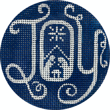 "APX415 Joy Nativity 13 mesh 4"" ROUND Alice Peterson Designs"