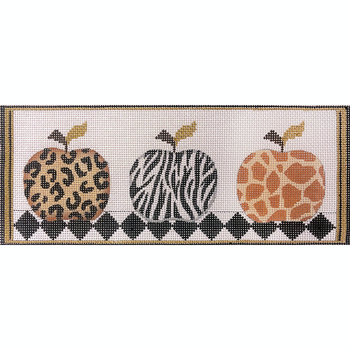 AP4182 Animal Skin Apples 13 mesh 12 x 5.5  Alice Peterson Designs