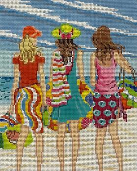 AP4150 Three Girls in Summer 13 mesh 8 X 10 Alice Peterson Designs