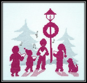 Carolers Silhouette 4 music Charms only No Pattern Handblessings