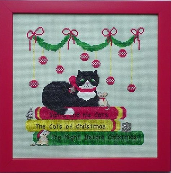 Christmas Library Kitty 3 Charms Only NO Pattern Handblessings