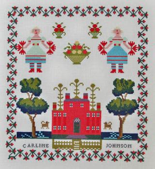 Pom-Pom Girls,Carline Johnson1839 by Queenstown Sampler Designs 19-2035