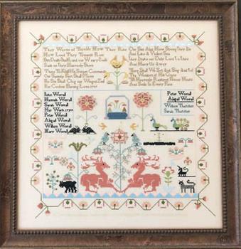Sarah Worrall 1790 320h x 310w by Queenstown Sampler Designs 20-1359