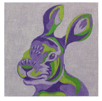 "ME87 Color Block Rabbit 13 Mesh 8"" x 8"" Madeleine Elizabeth"