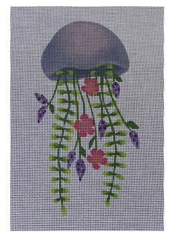 "ME52 Floral Jellyfish 18 Mesh 3.5"" x 7"" Madeleine Elizabeth"