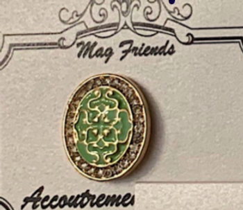 Misc. Oval Green Needle Minder Magnet Accoutrement Designs