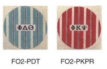 Phi Kappa Sigma FO2-PKS 4 1⁄2 inch Stripe Ornament in Fraternity Colors 18 Mesh Kangaroo Paw Designs