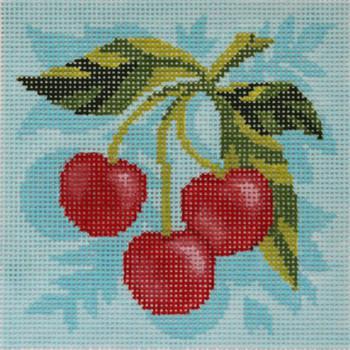 AC086 FRUIT SQUARE: CHERRIES 4x4 18 Mesh Abigail Cecile