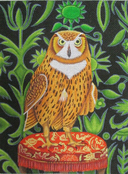 CN-1501 An Inquiring Mind Owl 9 x 12 18 Mesh CATHERINE NOLIN (PLD)