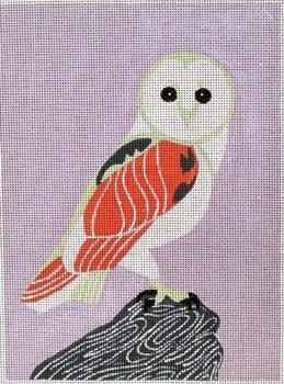 SEE1427 Barnyard Owl 8 x 11 18 Mesh Anna See