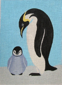 SEE70618 Penguins 8 x 11 18 Mesh Anna See