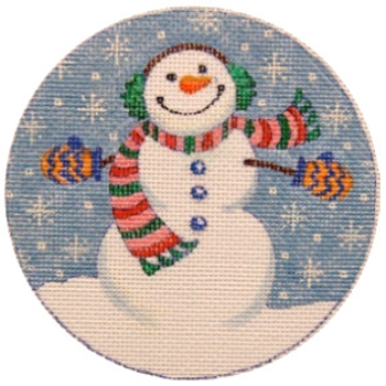 188616 Frosty's Debut 4.5 inch round 18 Mesh JULIE THOMPSON