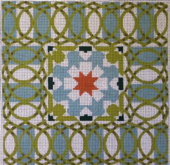 70470 Portuguese Tile Ethnic 8 x 8  13 Mesh Unique New Zealand Designs Needlepoint