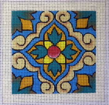 70471 Lisbon Tile Ethnic 4 x4 13 Mesh Unique New Zealand Designs Needlepoint