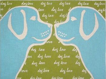 70499 Dog Love 16 x 12 13 Mesh Unique New Zealand Designs Needlepoint