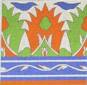 70606 Granada Tile-Ethnic 4x4 18 Mesh Unique New Zealand Designs Needlepoint