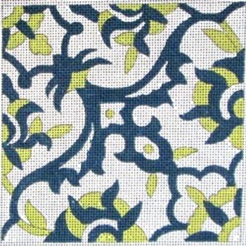70608 Porto Tile-Ethnic 4x4 13 Mesh Unique New Zealand Designs Needlepoint