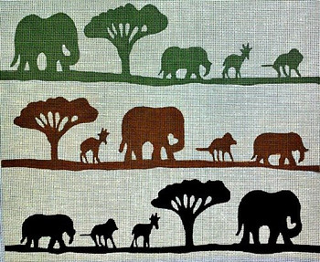 70620 African Safari Ethnic 15 X 13 13 Mesh Unique New Zealand Designs Needlepoint