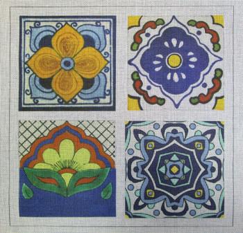 70647 Talavera Tile #1 Ethnic 14 x 14 13 Mesh Unique New Zealand Designs