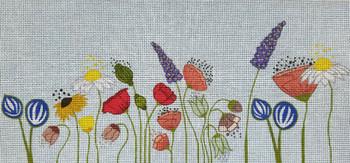70661 Wildflower Lumbar 18 X 9 13 Mesh Unique New Zealand Designs