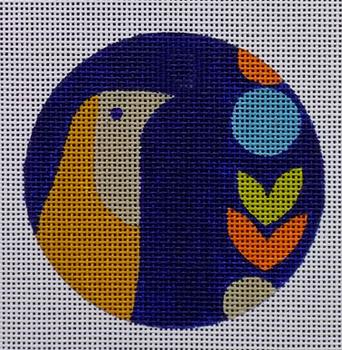 """70669 Mid Century Bird Ornament 4"""" in diameter 18 Mesh Unique New Zealand Designs"""