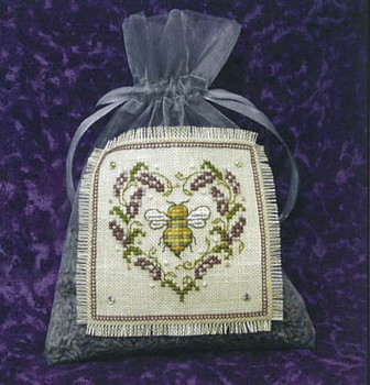 Lavender Bee Sachet 47w x 48h by Bee Cottage, The 21-1254