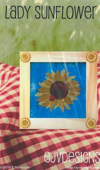 Lady Sunflower 125w x 120h by EJV DESIGNS 20-2484