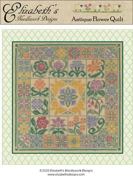 Antique Flower Quilt 168w x 168h by Elizabeth's Design 20-2100 YT