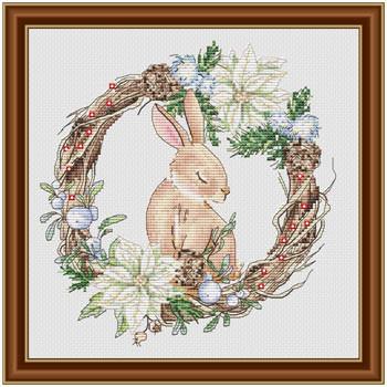 Winter's Rabbit 104w x 108h by Les Petites Croix De Lucie 21-118