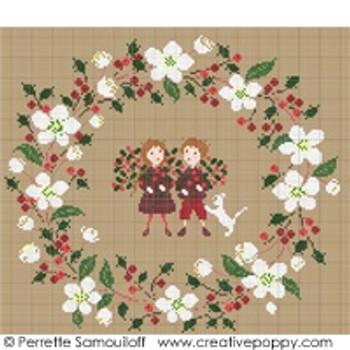 White Christmas Wreath by Perrette Samouiloff 20-2550