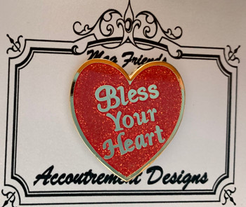 Words, Sayings Bless Your Heart Needle Minder Magnet Limited Accoutrement Designs