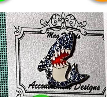 SEA & SUMMER Shark Gray Top Left Needle Minder Magnet Accoutrement Designs