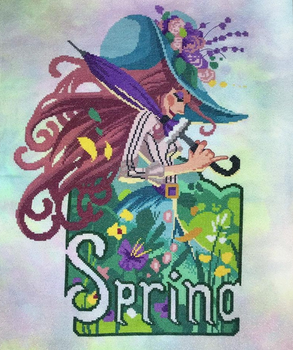 Spring Blossoms Stitch count: 157 x 230 stitches Autumn Lane Stitchery