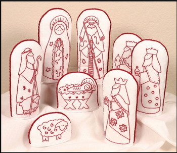 PC2106 Folkart Redwork Nativity The Posy Collection